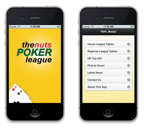 The Nuts Poker League Mobile